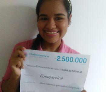 Ganadora del concurso de Julio: Lina García