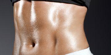 Abdomen de chocolatina gracias a la marcación abdominal