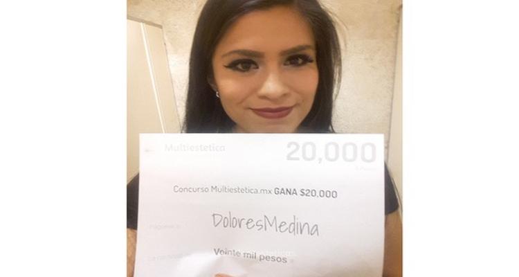 Ganadora del sorteo: DoloresMedina, afortunada de agosto