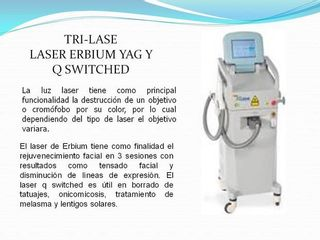 tri Laser Erbum Yag y Q SWITCHED