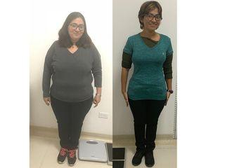 Francy 29 kilos 7 meses.