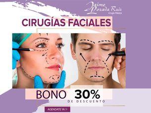 Descuento hasta del 30% en cirugía facial
