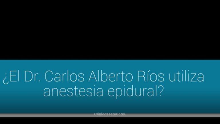 ¿Qué tipo de anestesia utiliza el Dr. Ríos?